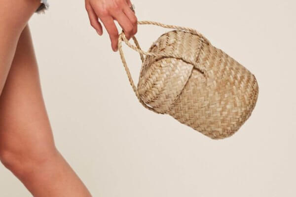 Reformation straw bag