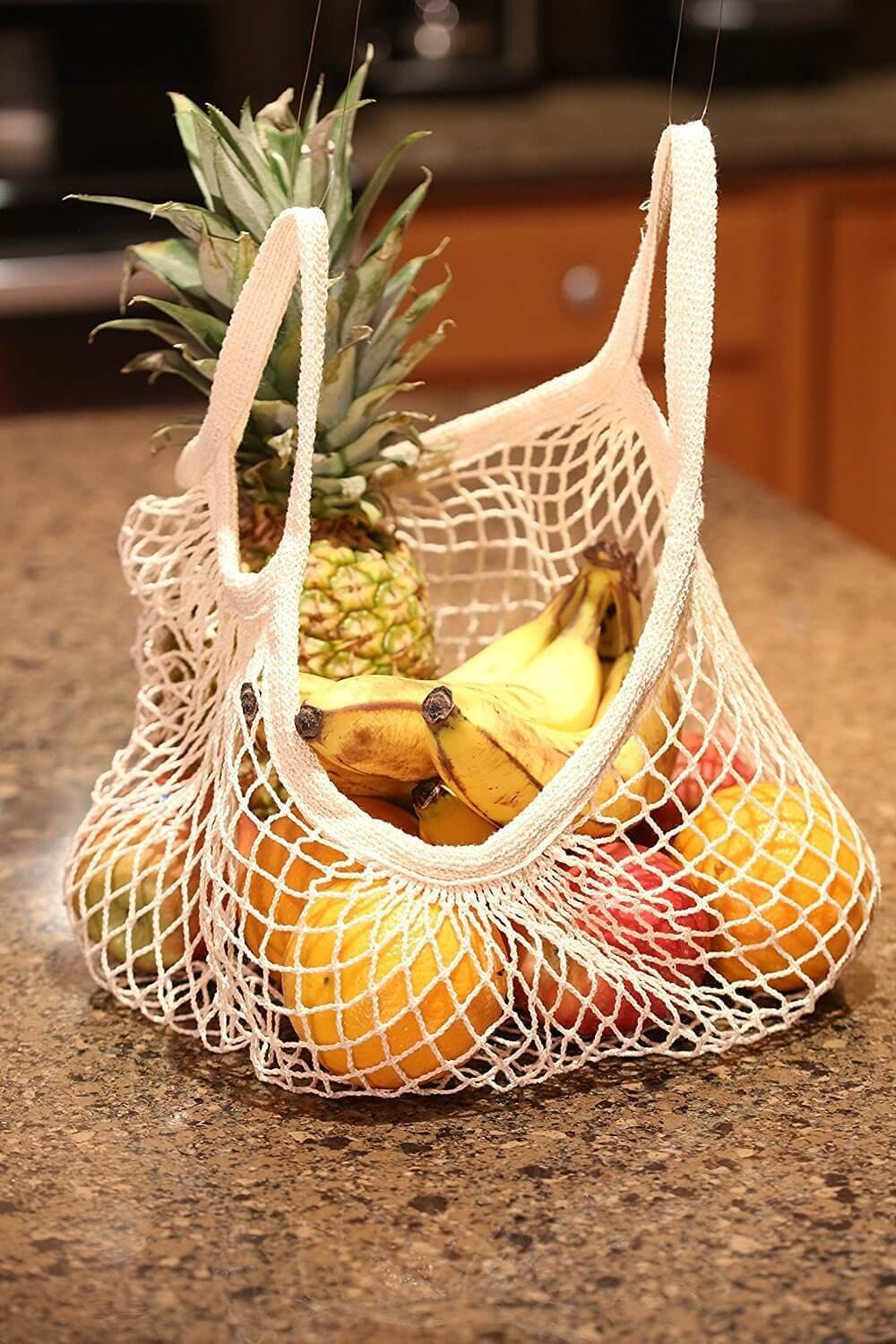 Tan grocery net bag to also wear out