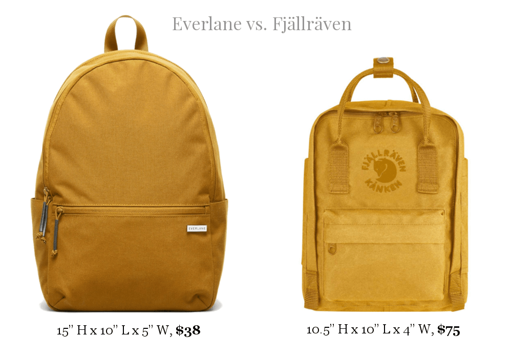 Everlane and FJÄLLRÄVEN price and specs comparision