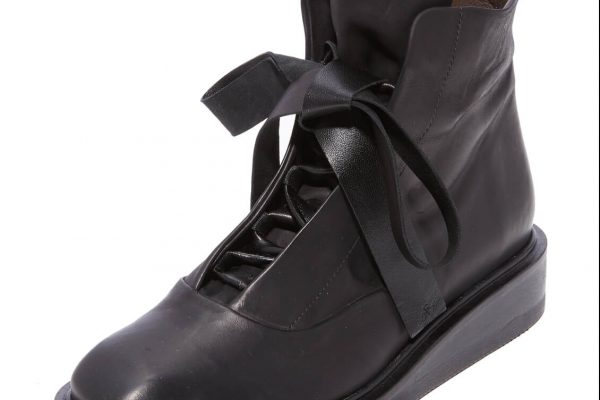 Flat lace-up ethically made black boots | Coclico Ethical and sustainably made shoes with minimalist design