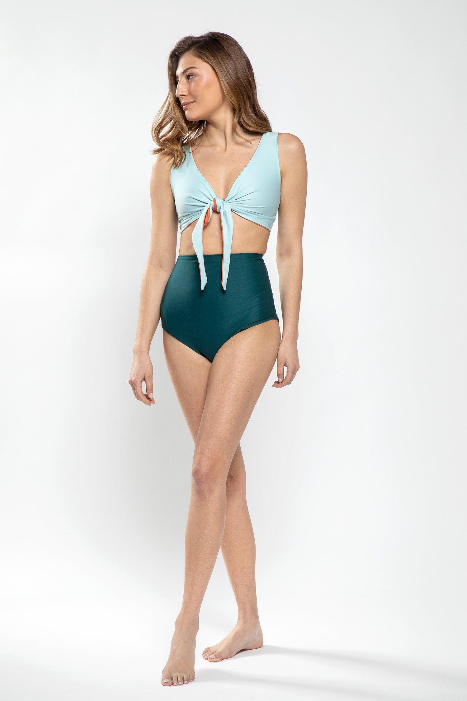 High waisted reversible bikini on Etsy